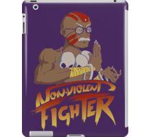 Non-Violent Fighter (dark color shirt) iPad Case/Skin