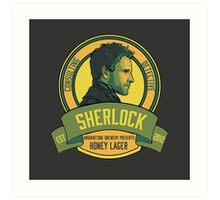 Brownstone Brewery: Sherlock Holmes Honey Lager Art Print
