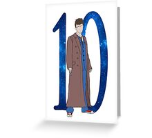 Tenth Doctor. Greeting Card