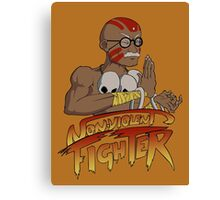 Non-Violent Fighter (light color shirt) Canvas Print