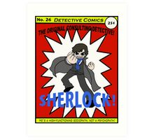 Sherlock Holmes--Pilgrim-Style (the comic book!) Art Print