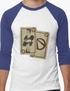 Handsome Black Jack (whith effect) Men's Baseball ¾ T-Shirt