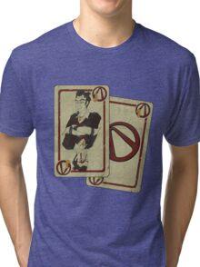 Handsome Black Jack (whith effect) Tri-blend T-Shirt
