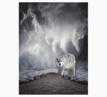 Wolf in the Middle of a Storm Kids Clothes
