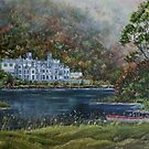 """Mist over Kylemore Abbey"" - Oil Painting by Avril Brand"