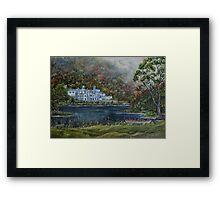 """""""Mist over Kylemore Abbey"""" - Oil Painting Framed Print"""