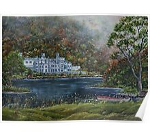 """""""Mist over Kylemore Abbey"""" - Oil Painting Poster"""