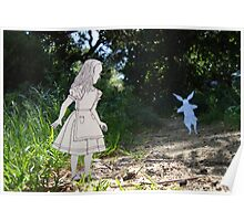 Alice and the White Rabbit Poster