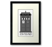 Classic Who Police Box. Framed Print
