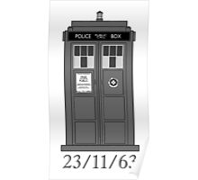 Classic Who Police Box. Poster
