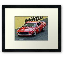 Allan Moffat - Trans Am Mustang Framed Print