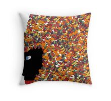 Carnival Girl Throw Pillow