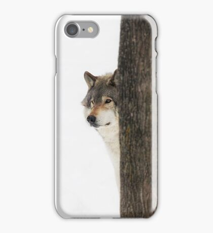 Hide and Seek! - Timber Wolf iPhone Case/Skin