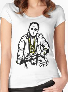 Masked Angel Riding Women's Fitted Scoop T-Shirt