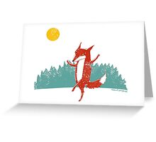 Dancing Fox Greeting Card