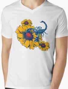 Scorpion Flowers Mens V-Neck T-Shirt