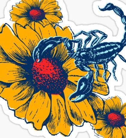 Scorpion Flowers Sticker