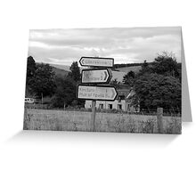 Roadsign at Towie Greeting Card