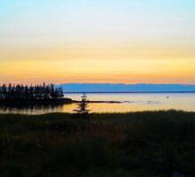 Faraway Sunset Sticker