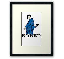 Bored Sherlock. Framed Print