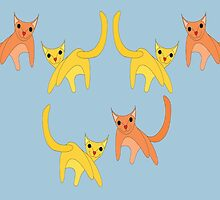 Falling Cats  by Jean Gregory  Evans