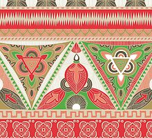 Tribal Aztec pattern in earthy shades by Alissa Stytsenko
