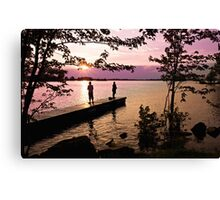 Boys Fishing, Terrasse Vaudreuil, Ile Perrot Canvas Print