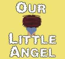 Our Little Angel Sitting on Cloud Red Head 2 One Piece - Short Sleeve
