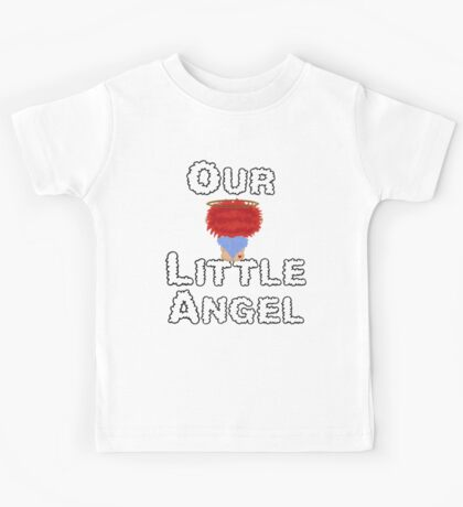 Our Little Angel Sitting on Cloud Red Head  Kids Tee