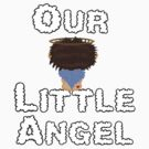 Our Little Angel Sitting on Cloud Brown Hair by Chere Lei
