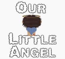 Our Little Angel Sitting on Cloud Brown Hair Kids Tee