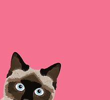 Peeking Siamese Cat - Funny cat meme for cat lovers, cat ladies gifts for cat people by PetFriendly