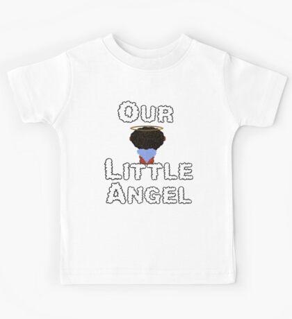 Our Little Angel Sitting on Cloud Black Hair Kids Tee