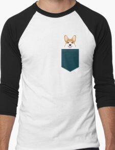 Teagan - Corgi Welsh Corgi gift phone case design for pet lovers and dog people Men's Baseball ¾ T-Shirt