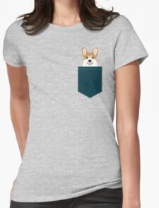 Teagan - Corgi Welsh Corgi gift phone case design for pet lovers and dog people Womens Fitted T-Shirt
