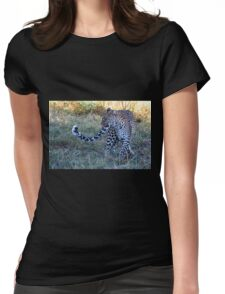 Leopard Ready to Hunt Womens Fitted T-Shirt