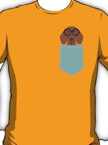Remy - Fashion Glasses Doxie Dashcund Hipster Dog  T-Shirt