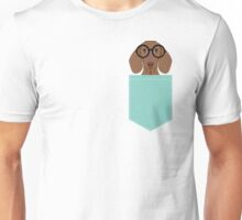 Remy - Fashion Glasses Doxie Dashcund Hipster Dog  Unisex T-Shirt