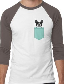Logan - Boston Terrier pet design with bold and modern colors for pet lovers Men's Baseball ¾ T-Shirt
