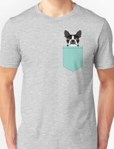 Logan - Boston Terrier pet design with bold and modern colors for pet lovers Unisex T-Shirt