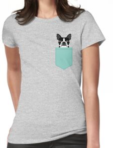 Logan - Boston Terrier pet design with bold and modern colors for pet lovers Womens Fitted T-Shirt