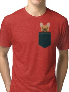 Willow - French Bulldog phone case art design for dog lovers and dog people Tri-blend T-Shirt