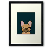 Willow - French Bulldog phone case art design for dog lovers and dog people Framed Print