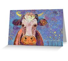 THE COW WITH THE CRUMPLED HORN Greeting Card