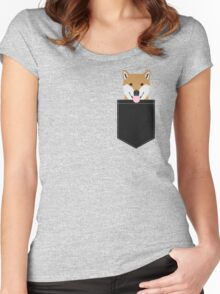 Indiana - Shiba Inu gift design for dog lovers and dog people Women's Fitted Scoop T-Shirt