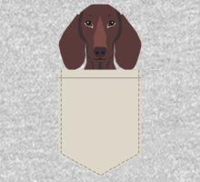 Piper - Dachshund, weener dog, wiener dog, pet portrait, sausage dog, pet Baby Tee