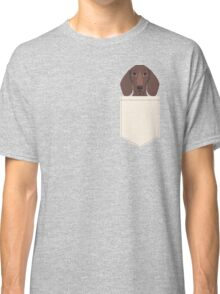 Piper - Dachshund, weener dog, wiener dog, pet portrait, sausage dog, pet Classic T-Shirt