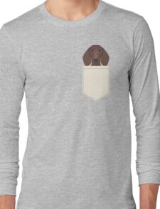 Piper - Dachshund, weener dog, wiener dog, pet portrait, sausage dog, pet Long Sleeve T-Shirt
