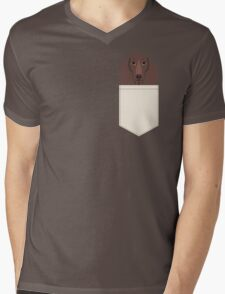 Piper - Dachshund, weener dog, wiener dog, pet portrait, sausage dog, pet Mens V-Neck T-Shirt