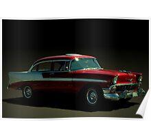 1956 Chevrolet Four Door Bel Air Poster